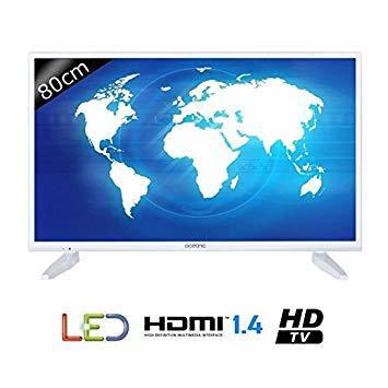 tv led blanc 80 cm