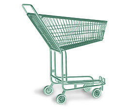 un cadi de supermarché