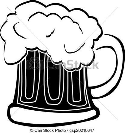 verre a biere dessin