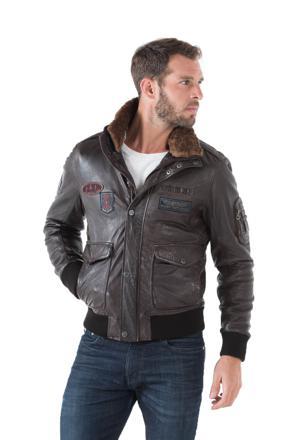 veste aviateur homme cuir
