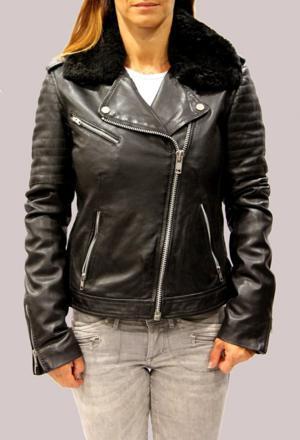 veste cuir femme redskins
