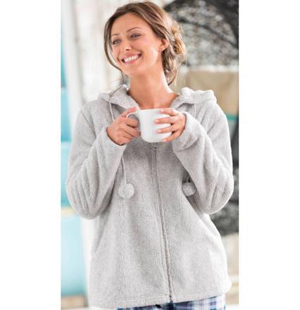 veste d'interieur en polaire pour femme