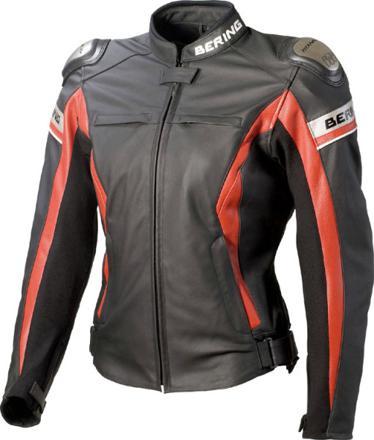 veste en cuir moto femme