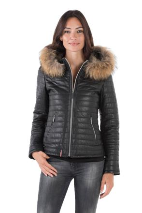 veste en cuir oakwood femme