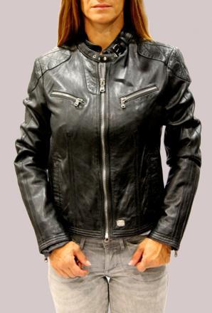 veste en cuir redskins pour femme