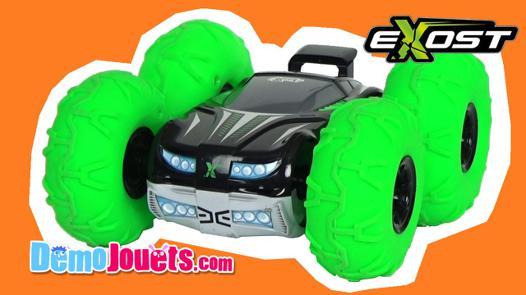 voiture télécommandée grosses roues vertes