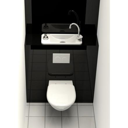 wc suspendu lave main