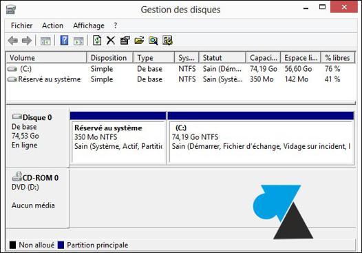 windows 10 disque dur