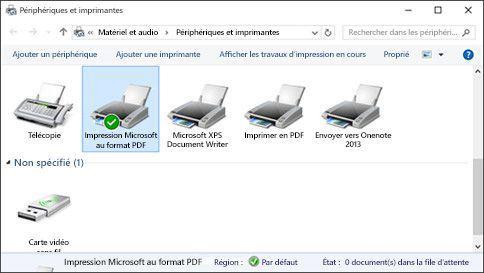windows 10 imprimante