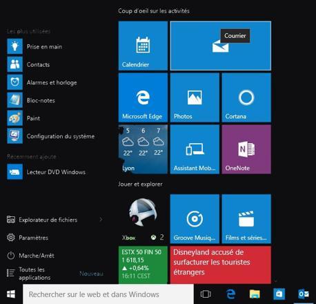 windows 10 retrouver le bureau