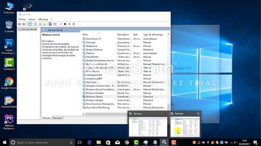 windows disque 100