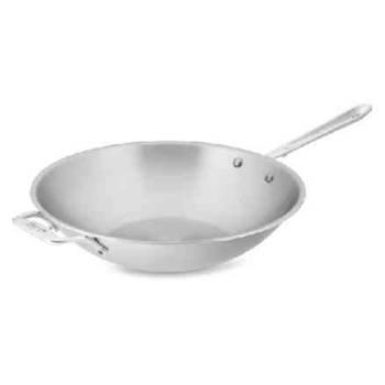 wok en acier inoxydable